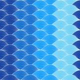 Onda geométrica abstrata do teste padrão Imagens de Stock