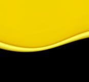 Onda gialla sul nero Fotografia Stock