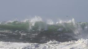Onda grande del mar approching la playa Foto de archivo