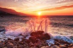 Onda grande do mar Imagem de Stock Royalty Free