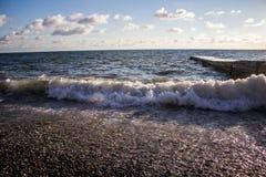 Onda grande en el mar Imagen de archivo