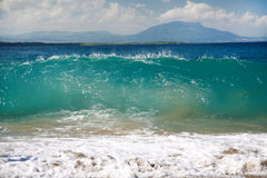 Onda grande en el océano Fotos de archivo