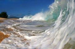 Onda Hawaii de la playa del océano fotografía de archivo libre de regalías