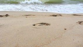 Onda hermosa en la playa metrajes