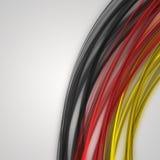 Onda illustrata con i colori tedeschi Fotografia Stock
