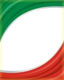 Onda italiana del marco de la bandera Imagen de archivo libre de regalías