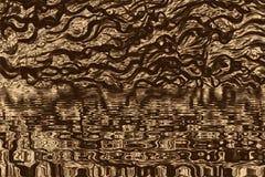 Onda líquida do ouro e projeto amarelo abstrato, reflexão ilustração royalty free