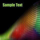 Onda multicolora del mosaico stock de ilustración
