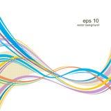 Onda multicolore illustrazione di stock