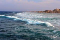 Onda na costa Fotografia de Stock