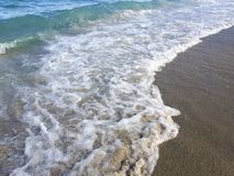 Onda na praia Foto de Stock
