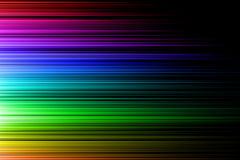 Onda orizzontale dell'arcobaleno Immagine Stock