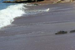 Onda pequena na praia Imagens de Stock Royalty Free
