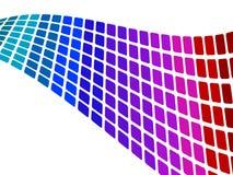 Onda quadrata blu su bianco Fotografie Stock
