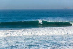 Onda que practica surf de la persona que practica surf Foto de archivo