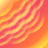A onda quente da luz e do calor do sol abstrai o fundo Fotos de Stock