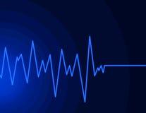 Onda radio - azzurro al neon Immagine Stock