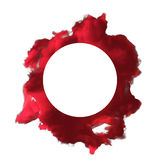 Onda roja del polvo en la representación blanca del fondo 3d Imágenes de archivo libres de regalías