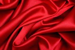 Onda roja del satén fotografía de archivo