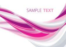 Onda rosada Imagen de archivo libre de regalías