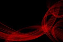 Onda rossa sul nero Fotografie Stock Libere da Diritti