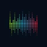 Onda sadia do conceito do logotipo da música, tecnologia audio, forma abstrata ilustração do vetor