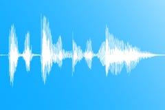 Onda sadia Soundwave dinâmico realístico, fluxo digital da música no fundo azul Vetor ilustração do vetor