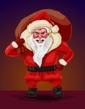 Onda Santa Claus, vektorillustration Arkivbild