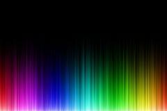 Onda sonora dell'arcobaleno Immagini Stock