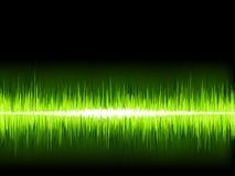 Onda sonora verde su fondo bianco. + EPS8 Immagine Stock Libera da Diritti