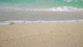 Onda suave del océano azul en la playa blanca arenosa Fondo del verano Fotografía de archivo libre de regalías