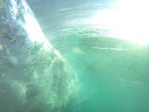 Onda submarina fotografía de archivo