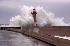 Onda tormentoso grande Foto de Stock Royalty Free