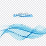 Onda trasparente blu Immagine Stock
