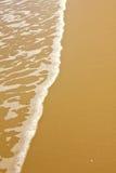 Onda tropica brilhante do mar na areia dourada da praia Imagens de Stock