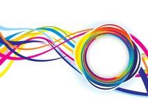 Onda variopinta creativa artistica astratta dell'arcobaleno Illustrazione Vettoriale