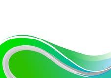 Onda verde Imagen de archivo libre de regalías