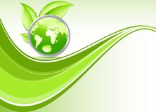 Onda verde abstracta Imagen de archivo