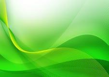Onda verde abstracta Imágenes de archivo libres de regalías