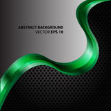 Onda verde abstracta en vector gris y negro de la malla Imagenes de archivo