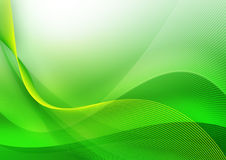 Onda verde abstrata Imagens de Stock Royalty Free