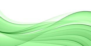 Onda verde abstrata Fotografia de Stock Royalty Free