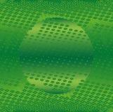 Onda verde astratta sul vettore bianco del fondo Fotografia Stock