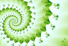 Onda verde del fractal del resorte Imagen de archivo