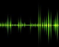 Onda verde del sonido Fotos de archivo libres de regalías
