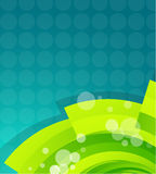 Onda verde del techno Imagen de archivo