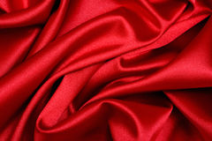 Onda vermelha do cetim Fotografia de Stock