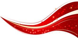 Onda vermelha do Natal Fotografia de Stock Royalty Free