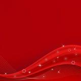 Onda vermelha do Natal ilustração stock