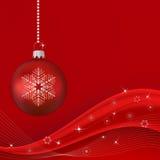 Onda vermelha do Natal ilustração royalty free